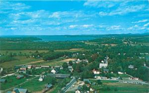 SHELBURNE VERMONT LAKE CHAMPLAIN VALLEY COUNTRY AERIAL POSTCARD c1960s