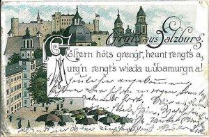 VINTAGE POSTCARD: AUSTRIA  - GRUSS AUS: SALZBURG 1901