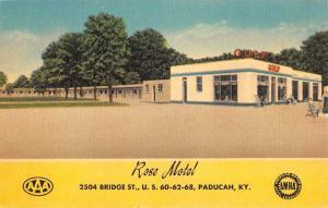 Paducah Kentucky Rose Motel Street View Antique Postcard K80890