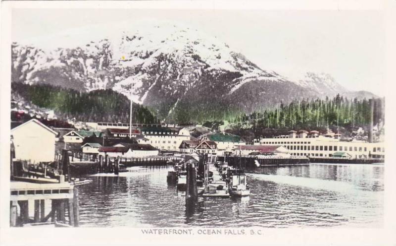 RP, Waterfront, Ocean Falls, British Columbia, Canada, 1920-1940s