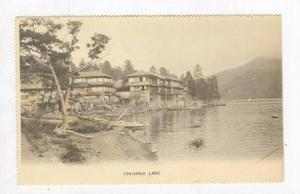 Buildings & Row Boats, Chujenji Lake, Japan, 1898-1905