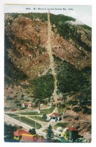 Mount Manitou Scenic Incline Railway, Colorado unused HHT Postcard