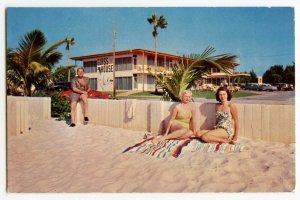 Postcard Glass House Apartment Motel Clearwater Beach Florida Standard View Card