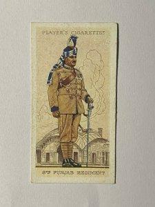 CIGARETTE CARD - PLAYERS BRITISH EMPIRE UNIFORMS #21 INDIAN ARMY PUNJAB  (UU11)