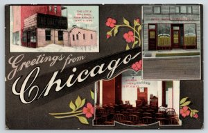 Chicago~Little Coal Shed~Daily News~Sunday School~Interior~Rose Art Nouveau~1909