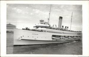 Catalina Island CA Steamer Ferry Old Real Photo Postcard