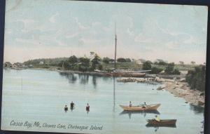 CASCO BAY ME 1906 CLEAVES COVE CHEBEAGUE ISLAND early Postcard