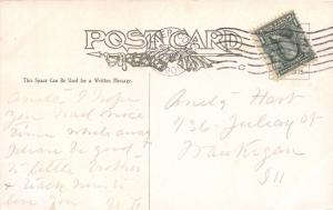 HELEN HUNT FALLS COLORADO~BRIDGE & SIGN~ J E LAVLAX ARTIST SIGNED POSTCARD 1908