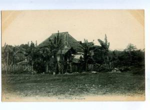 192139 SINGAPORE Malay Village Vintage postcard