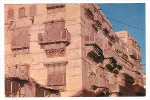 Wooden Rawshans of the Old Building in JEDDAH, Saudi Arabia, PU-1960s