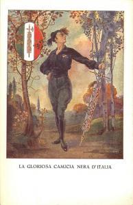 CONFINARI LA GLORIOSA CAMICIA NERA ITALIA BLACKSHIRTS ITALY SOLDIER ARTIST EZIO