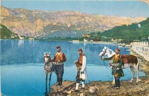 Ragusa Dubrovnik types ethnic Croatia horses ca. 1910s postcard