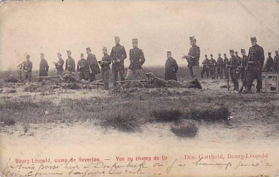 Bourge Leopold, camp de Beverlee-Vue au champ de tir , Belgium , PU-1905