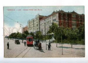 232929 ITALY VENEZIA LIDO Grand Hotel des Bains TRAM Vintage