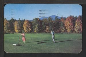 Golf in Autumn Postcard