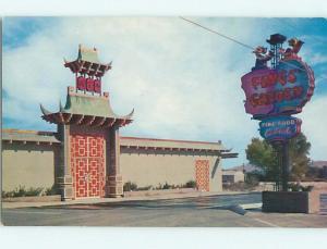 Unused Pre-1980 FONG'S GARDEN - CHINESE RESTAURANT Las Vegas Nevada NV s0685-23