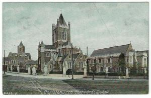 Dublin, Ireland, Early View of Christchurch Cathedral