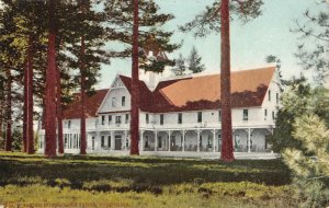 TALLAC HOUSE California LAKE TAHOE ca 1910s Vintage Mitchell Postcard