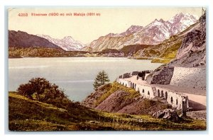 Postcard Silsersee (1800 m) mit Maloja (1811 m) / Lake Sils, Switzerland G63