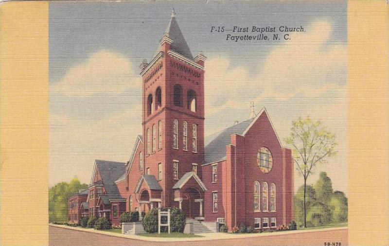 Exterior,  First Baptist Church,  Fayetteville,  North Carolina,   PU_30-40s