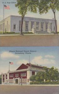Illinois Galesburg U S Post Office Illinois National Guard Armory
