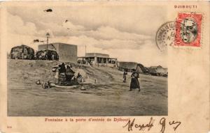 CPA SÉNÉGAL-Fontaine á la porte d'entrée de Djibouti (331319)