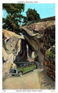 Yosemite National Park Arched Rock On El Portal Road