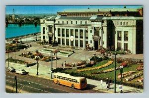 Columbus OH, Scioto River, City Hall, Chrome Ohio Postcard