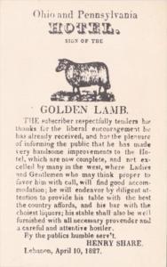 Ohio Lebanon The Golden Lamb Inn