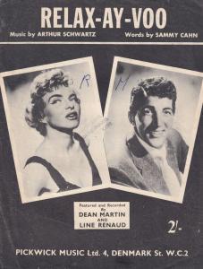 Relax-Ay-Voo Dean Martin 1950s Sheet Music