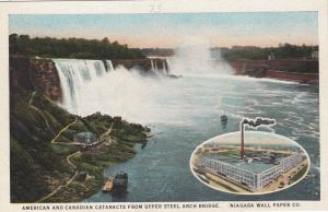 Niagara Wall Paper Company, 1900-10s; American & Canadian Cataracts From Upper