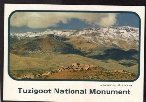 AZ Tuzigoot National Monument Park Cottonwood Jerome Arizona Postcard Aerial