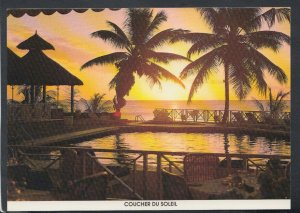 Mauritius Postcard - Sunset Between The Coconut Trees, Melville Hotel   T4173