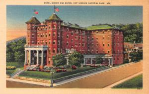Hotel Moody, Hot Springs National Park, Arkansas,  Early Postcard, unused