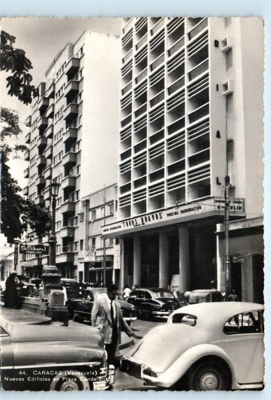 Street View Caracas Venezuela Plaza Candelaria Vintage Real Photo Postcard C12