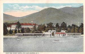 Lake George New York Fort Wm Henry Hotel Scenic View Antique Postcard J46064