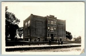 New Ulm Minnesota~Lincoln School~Boys & Girls~Tough Guy On Sidewalk~c1915 RPPC