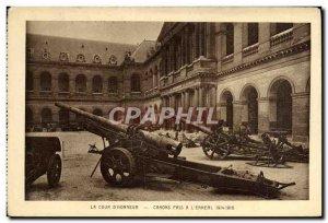Old Postcard The Court D & # 39Honneur Parix Cannons Invalides militaria