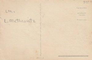 Woman portrait , 1900-10s ; #45A ; Artist Signed L. Metlicouitz