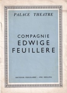 Edwige Feuillere Palace Theatre Classical Vintage Programme