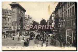 Postcard Old Paris X Boulevard Saint Denis