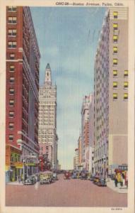 Oklahoma Tulsa Boston Avenue 1948 Curteich