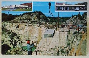 Rock of Ages Granite Quarry Barre Vermont Vintage Postcard