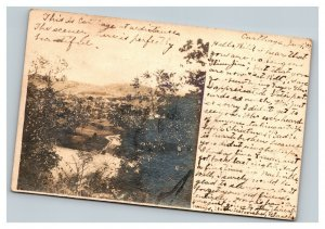 Vintage 1907 RPPC Postcard Valley & Cottage Carthage Tennessee