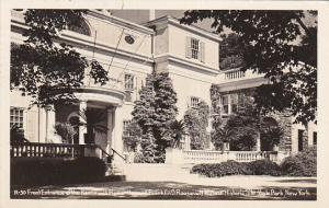 RP, HYDE PARK, New York, 1949; Front Entrance, Franklin Roosevelt Historic Site