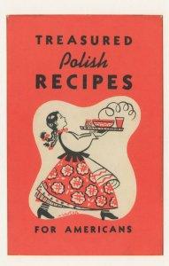 Treasured Polish Recipes For Americans Palanie Club Book Postcard