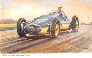 Unsupercharged Osca Auto Race Car, Racing Postcard 1961