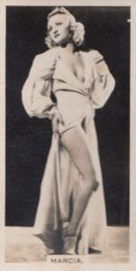 Marcia Hollywood Actress Rare Real Photo Cigarette Card