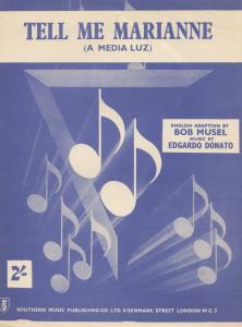 Tell Me Marianne Bob Musel 1940s Sheet Music