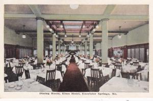 Missouri Excelsior Springs Elms Hotel Dining Room
